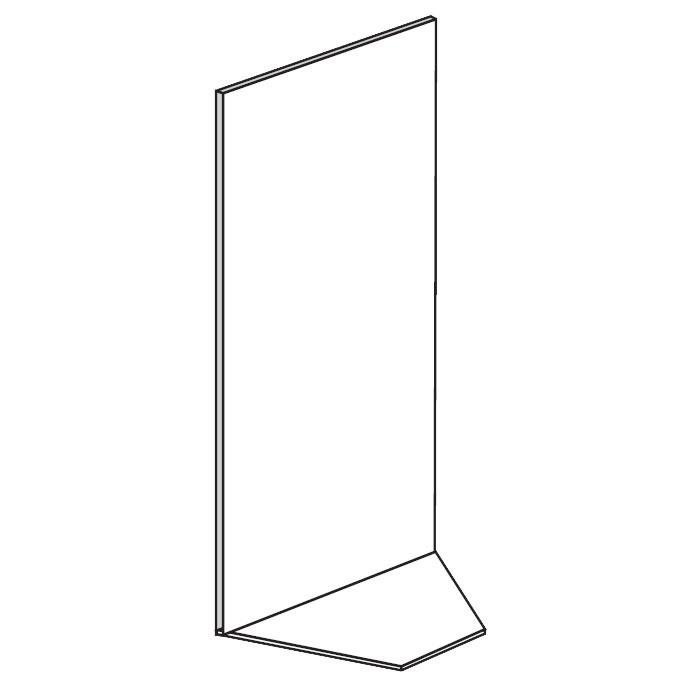 Prodejní regály - koutové, plné, 1900x1000x500 mm