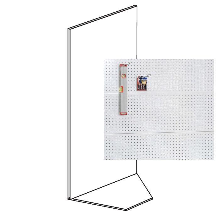 Prodejní regály - koutové, perforované, 1600x1000x500 mm