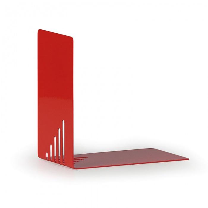Kovové regálové děliče, balení 2 ks, červené