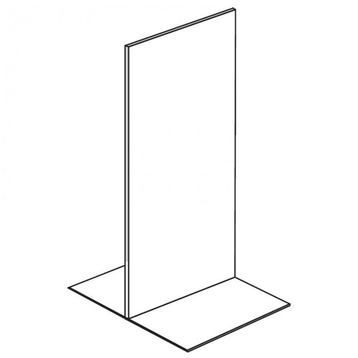 Prodejní regál oboustranný, plné stěny, 1600x1000x600 mm, základní