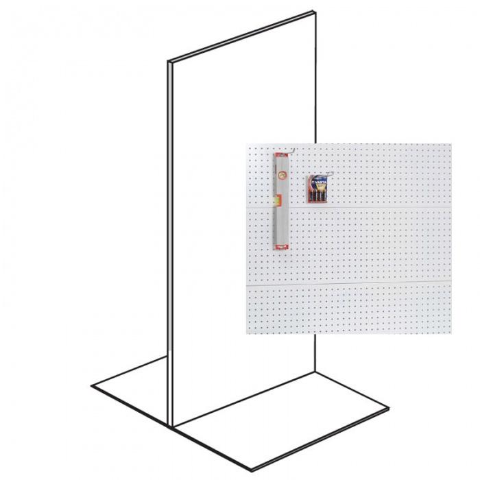 Prodejní regál oboustranný, perfo stěny, 2200x1000x600 mm, základní