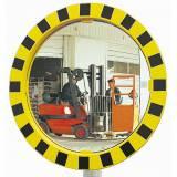 Bezpečností zdrcadla se žlutočerným rámováním