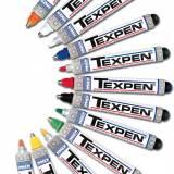 Průmyslové kuličkové značkovače TEXPEN, červené, 12 ks