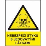 Nebezpečí styku s jedovatými látkami
