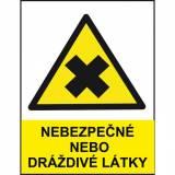 Nebezpečné nebo dráždivé látky