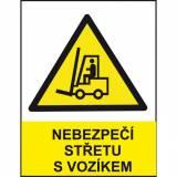 Nebezpečí střetu s vozíkem