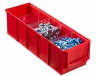 Plastový regálový box ShelfBox, 91 x 300 x 81 mm, červený