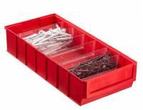 Plastový regálový box ShelfBox, 183 x 400 x 81 mm, červený