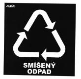Samolepky - tříděný odpad, ostatní odpad - černá - CZ