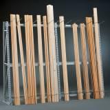 Regály pro skladování profilů - jednostranný, 2200 x 1400 x 500 mm, přístavný