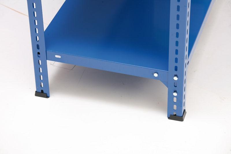 Policový regál, 150 kg, 2500x1000x400 mm, 8 polic, modrý