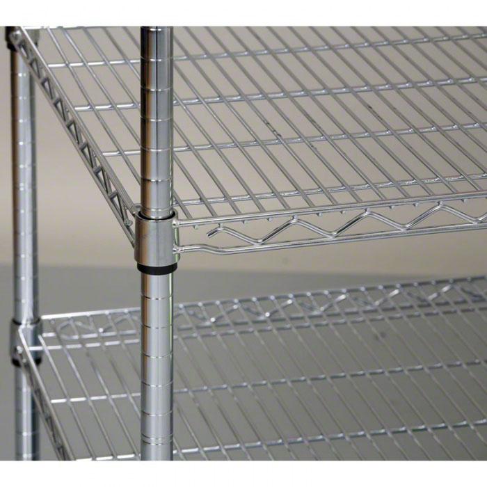 Chromovaný regál s drátěnými policemi, 1800x1200x450 mm